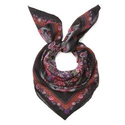 Шерстяной платок с красивым цветочным принтом SH 541