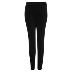 Красивые бархатные брюки-слим черного цвета TR 314