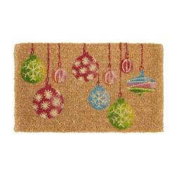 Новогодний коврик под дверь BAUBLES DOORMAT 43*73 (Multi)