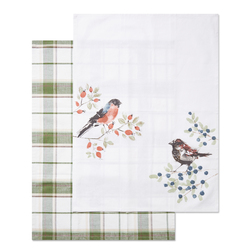 Кухонные полотенца с рисунком птиц BRITISH BIRDS SET OF 2 TEA TOWELS 18*24 (Multi)