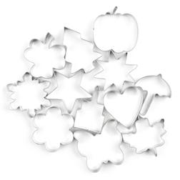 Набор формочек для печенья COOKIE CUTTERS SET OF 12 IN A JAR 21*14 (Silver)