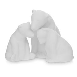 Керамический декор семья полярных медведей POLAR BEAR FAMILY SET OF 3 LIT 16*12,8; 7*9,5; 5,5*9,5