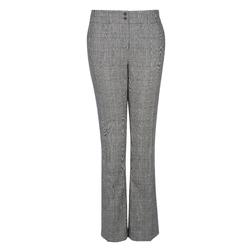Стильные брюки-клеш серого цвета в клетку TR 288