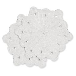 Набор подставок под посуду в форме снежинки белого цвета SNOWFLAKE SET OF 2 PLACEMATS Ø23 (White)