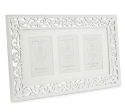 Рамка на три фото с зеркальной основой ROCOCO 3 APERTURE  30*48*1,5 (White)