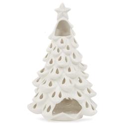 Подсвечник в форме новогодней елочки CHRISTMAS TREE TEALIGHT HOLDER 16*15*22,3 (White)
