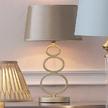 Настольная лампа с абажуром цвета шампанского MADISON (Champagne)