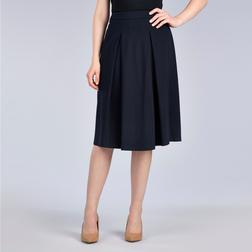 Классическая юбка со сборками темно-синего цвета MS 367