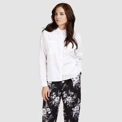 Классическая белоснежная блузка из 100% хлопка BL 044