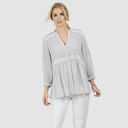 Изящная и легкая блузка нежно серого цвета из вискозы BL 065