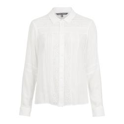 Изумительная блузка классического кроя цвета слоновой кости BL 092