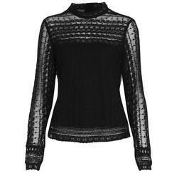 Обворожительная блузка черного цвета TS 807
