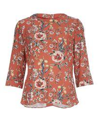Изысканная блуза  с рукавом 3/4, из 100% вискозы BL 825