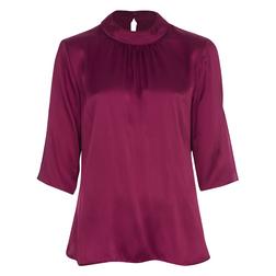 Элегантная шелковая блуза цвета фуксии BL 136