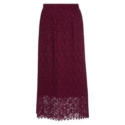 Великолепная кружевная юбка бордового цвета MS 607