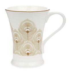 Фарфоровая чашка с золотистым рисунком MONTAGUE 10,5*5 (Gold)
