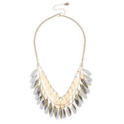 Прекрасное ожерелье с красивыми декоративными элементами JW 822 Gold