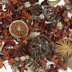 Сухоцвет с зимним ароматом цитрусовых и корицы BURNT AMBER & ORANGE POT 10*10*20 (Multi)