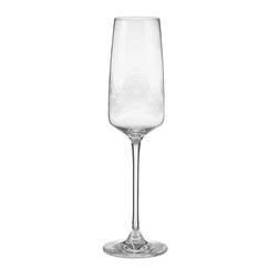 Бокал для шампанского со светлым рисунком перьев павлина MONTAGUE FEATHER ETCHED CHAMPAGNE FLUTE