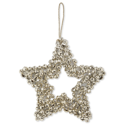 Новогодний декор в форме звезды STAR BELL WREATH H24 (Gold)