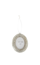 Елочная игрушка – рамка для фото FRAME OVAL  DECORATION H9,5 (Silver)