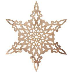 Настенный декор в форме снежинки SNOWFLAKE HANGING WALL PIECE 39*44,5 (Copper)