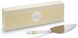 Лопатка для десертов с золотистым рисунком GABRIELLA LACE CAKE SLICE 4*9*28 (Gold)