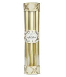 Набор высоких свечей золотистого цвета DINNER CANDLES PACK OF 6 26*2 (Gold)