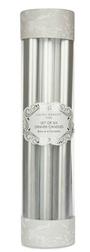 Набор высоких свечей серебристого цвета DINNER CANDLES PACK OF 6 26*2 (Silver)