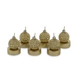 Набор свечей в форме елочных игрушек BAUBLE SET OF 6 TEALIGHTS Ø4 (Gold)