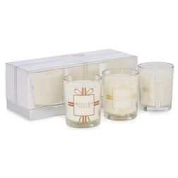 Набор ароматических свечей с зимними ароматами CHRISTMAS VOTIVE GIFT SET OF 3 MINI 20*10*7 (Silver)
