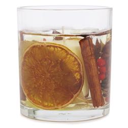 Ароматическая свеча с запахом цитрусовых и корицы BURNT AMBER GEL 8*8,5 (Multi)