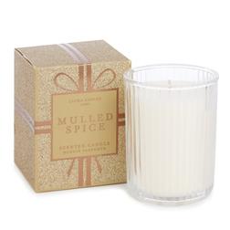Ароматическая свеча с запахом миндаля MULLED SPICE BOXED 7,5*7,5*10 (Gold)