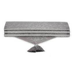 Хлопковая скатерть-дорожка серого цвета MADDOX 250*50 (Silver)