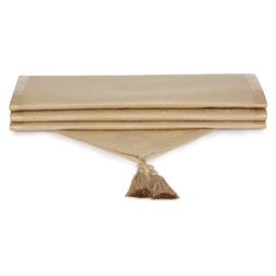 Хлопковая скатерть-дорожка золотистого цвета MONTAGUE 250*50 (Gold)