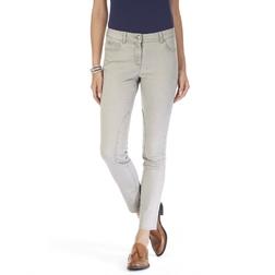 Светло серые укороченные джинсы TR 614