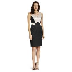 Приталенное платье без рукава с геометрическим узором MD 927