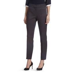 Зауженные брюки темно-синего цвета со стрелками и высокой талией TR 605