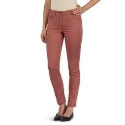 Зауженные джинсы темно-оранжевого цвета TR 734
