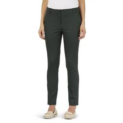 Укороченные брюки с высокой талией темно-зеленого цвета TR 875