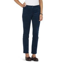 Вельветовые штаны из хлопка темно-синего цвета TR 923
