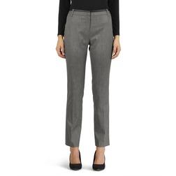 Классические прямые брюки серого цвета со стрелками TR 936