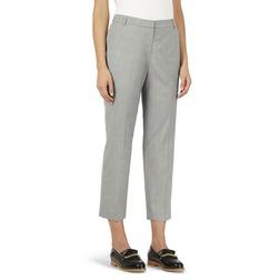 Укороченные брюки серого цвета со стрелками TR 868
