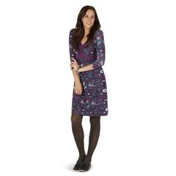 Легкое платье цвета смородины с цветочным узором MD 007