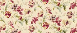 Шелковая ткань в крупные тюльпаны GOSFORD SILK MIX (Cranberry)
