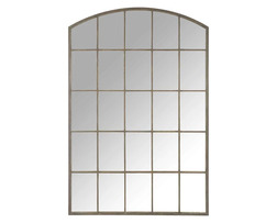 Большое зеркало в форме арочного окна MALORY 150*100*3 (Mirror/Brown)