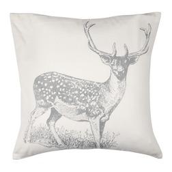 Декоративная подушка с вышивкой оленя WINTER STAG 55*55 (Silver)