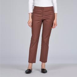 Укороченные штаны прямого кроя медного цвета TR 091