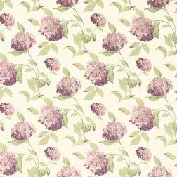 Бумажные обои в фиолетовые цветы гортензии HYDRANGEA (Grape)