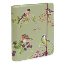 Красивый блокнот для рецептов BRITISH BIRDS RINGBOUND RECIPE FILE 23,7*19,5*4 (Multi)